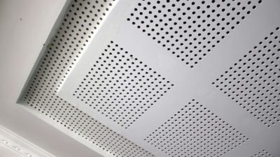 plasterboard perforated acoustic ceilings