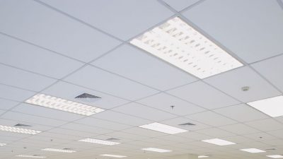 Exposed Grid Plasterboard Tile Ceiling