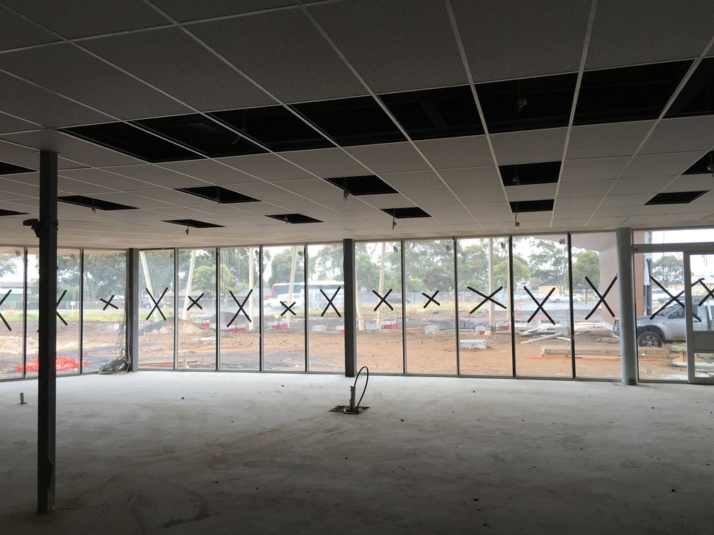 Perforated Ceiling Tile Installation